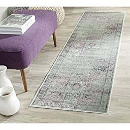 Safavieh Vintage Collection VTG127-2111 Amethyst Runner, 2 feet 2 inches by 6 feet (2\'2\