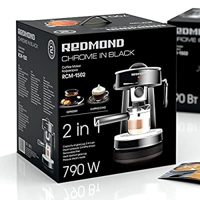 Espresso Coffee Maker | 4 bar, 2 cups included REDMOND RCM-1502