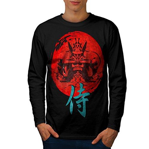 japonais-rouge-symbole-asiatique-homme-nouveau-noir-xl-t-shirt-manches-longues-wellcoda