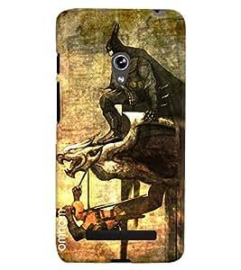Omnam Batman On Bird Printed Designer Back Cover Case For Asus Zenfone 5