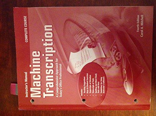 machine transcription 4th edition