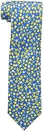 Tommy Hilfiger Men\'s Flower Field Tie, Yellow, One Size