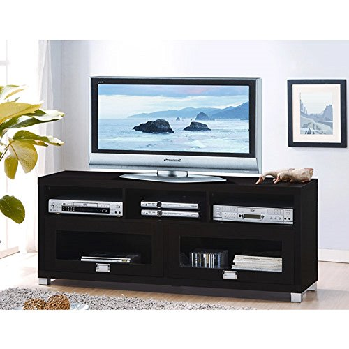 "Contemporary Brown Tv Stand 65"" Entertainment Center Living Room Furniture"