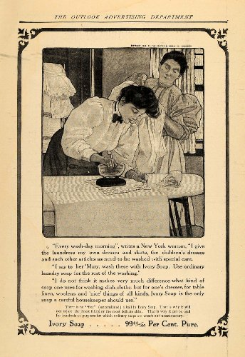 1908 Ad Ivory Soap Cleaning Wash Maid Housekeeper