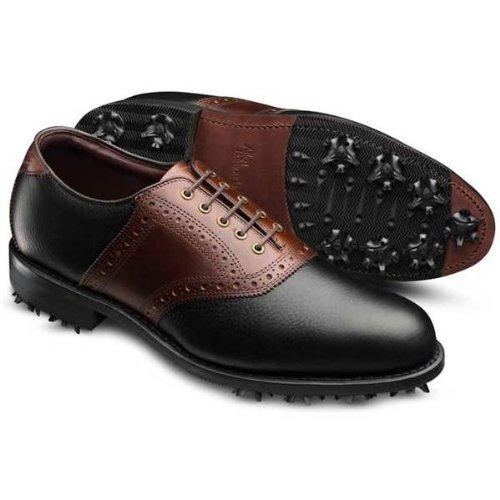 [アレン エドモンズ] Allen Edmonds メンズ REDAN GOLF SHOES ゴルフシューズ ブラックブラウンレザー(BLACK GRAIN BROWN LEATHER) US11(29cm) [並行輸入品]