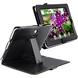 Solapa Negro Cuero Funda Carcasa Bolsa Con Soporte Para iPad 1 1st GEN gb
