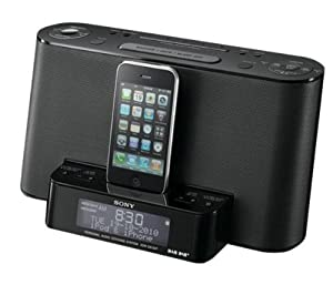 sony xdrds12ip ipod iphone speaker dock with clock radio function. Black Bedroom Furniture Sets. Home Design Ideas