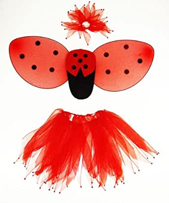 Amazon.com: Girls Ladybug Wings Costume Set with Tutu