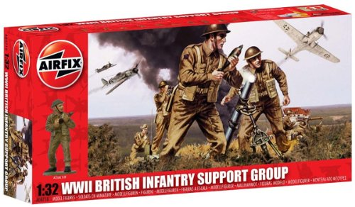 Buy Low Price Hornby Airfix A04710 WWII British Infantry Support Set 1:32 Scale Military Series 3 Figures (B004352IFS)