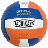 Tachikara Sensi-Tec Composite Colorful High Performance VolleyBall, Roy-White-Org