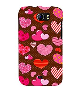 Beautiful Heart Wallpaper Cute Fashion 3D Hard Polycarbonate Designer Back Case Cover for Micromax Canvas 2 A110Q :: Micromax A110Q Canvas 2 Plus :: Micromax Canvas 2 A110