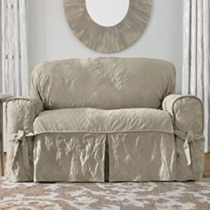 Sure Fit Matelasse Damask 1 Pc Sofa Linen