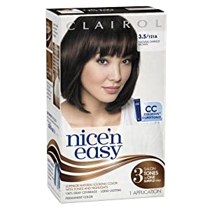 Clairol Nice 'n Easy 3.5 121A Natural Darkest Brown 1 Kit (Pack of 3)