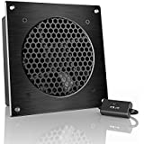 "AC Infinity AIRPLATE S3, Quiet Cooling Fan System 6"" with Speed Control, for Home Theater AV Cabinets"