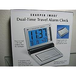 Shaper image dual-time travel alarm clock