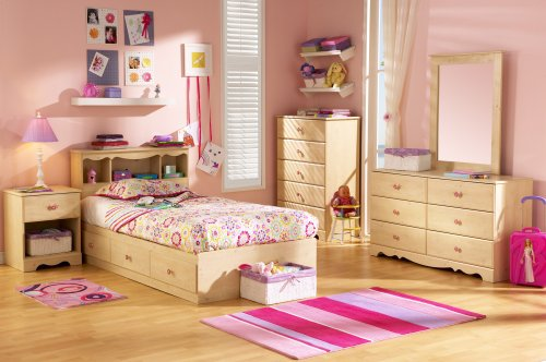 South Shore Furniture, Lily Rose Collection, Twin Mates Bed