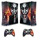 Xbox 360 Skins Joker Decals Vinyl Cover for Xbox Slim Console and Two Controllers