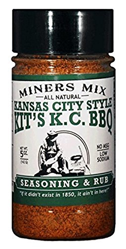 Kansas City Style Kit's K.C. Sweet BBQ Seasoning and Rub. Loaded with Brown Sugar for Long Slow Smoked Barbecue of Pulled Pork, Butts, or Ribs. Low Sodium, All Natural, No MSG, No Preservatives