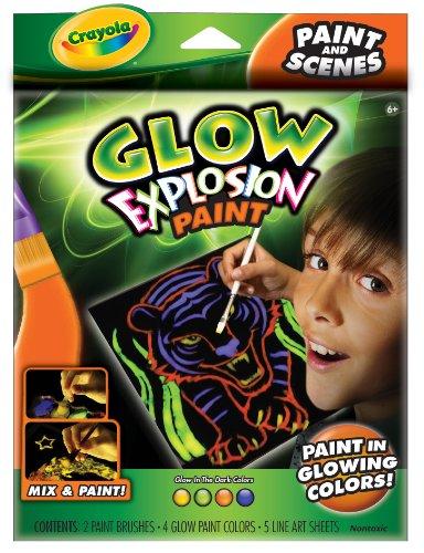 Crayola Glow Explosion Glow Paint & Scenes - 1