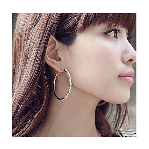 Mr Rabbit Fashion Jewelry Korean Wild Big Circle Diamond Earrings (Banner Coil Clean compare prices)