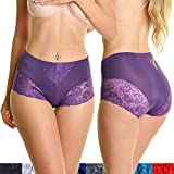Angelina 12 Pack Light Control, Full Coverage, Lace Decorated Briefs, #917