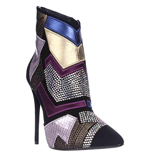 Giuseppe Zanotti Olindallo Geometric Dress Ankle Boots - Nero, 7 M US / 37 EU