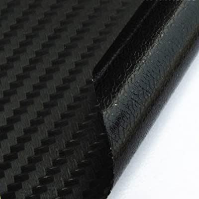 Style Car 3D Carbon Fiber Texture Vinyl Wrap Sticker Film Bubbles Free Black HD