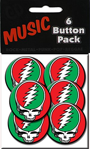 "C&D Visionary Grateful Dead SYF 1.25"" Button (6-Piece), Red/Green"