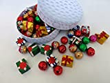 Golf Shaped Gift Box Filled with 25 Assorted Rich and Delectable Chocolates in the Shape of Presents and Golf Balls