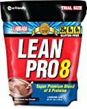Labrada Nutrition Lean Pro 8 Powder Trial Travel Pouch, Chocolate, 200 Gram