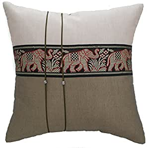 Buy avarada striped elephant throw pillow cover decorative for Sofa cushion covers 24x24