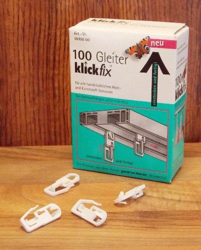 Klickfix Gardinengleiter- 100 St. im Originalkarton- Gardinen aufhängen leicht gemacht! günstig bestellen