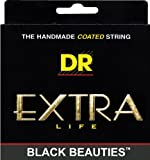 DR Strings Bass Strings, Black Beauties - Extra-Life Black, Coated 5-String, 45-125