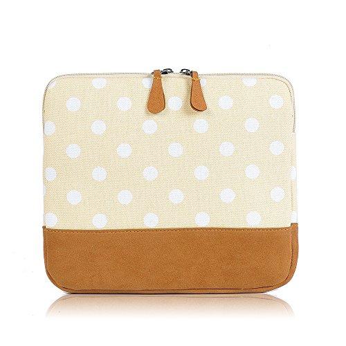 Womens ragazze e ragazzi Fun Fashion Cover Apple iPad Tablet, Design a pois Giallo beige small