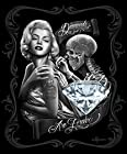 Marilyn Monroe Diamonds are Forever Queen Size Luxury Royal Plush Blanket 79x95 Inches