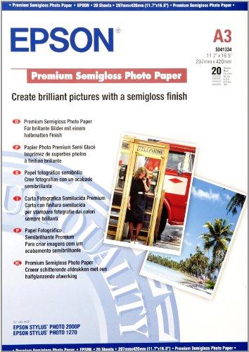 Epson s041334 carta fotografica confezione da 20 pezzi for Carta fotografica epson