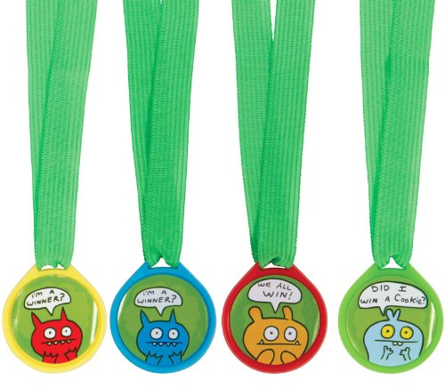 Amscan Ugly Doll Birthday Party and Celebration Mini Award Medals (12 Piece),, Green