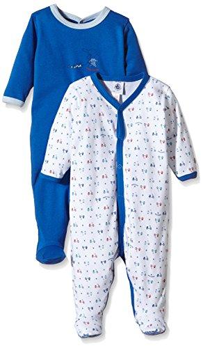 Petit Bateau Bettinalot - Ghette Unise Bimbi 2 pack, colore blu (special lot), taglia 60 (Taglia produttore: 3 mesi)