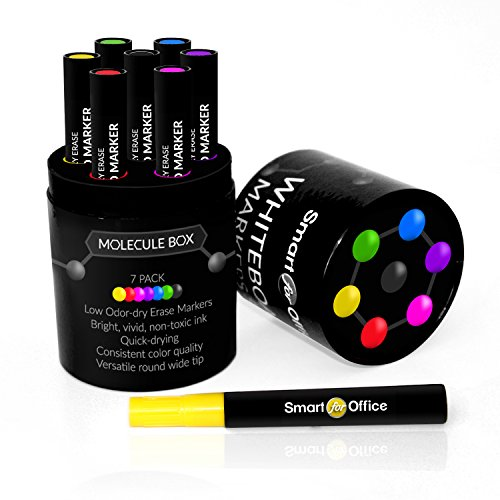 Whiteboard marker set by smart for office handmade 7 pack unique storing box exclusive design - Low cost decorating ideas seven smart tips ...