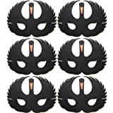 Pack of 6 Black Swan Foam Face Masks - Made by Blue Frog Toys