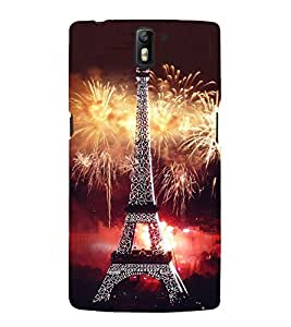 Fuson Premium Back Case Cover Eiffel tower With Multi Background Degined For One Plus One::One Plus1