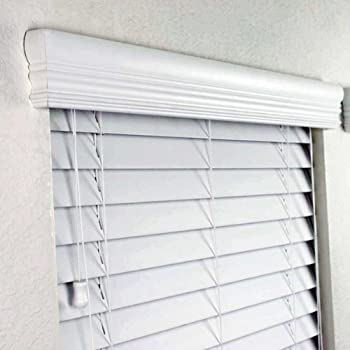 Info 2 Faux Wood Blinds 96 X 36 Inches In White With