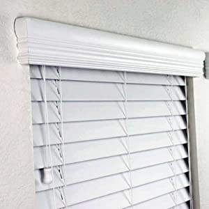 Amazon Com 2 Quot Faux Wood Blinds 48 X 48 Inches In White
