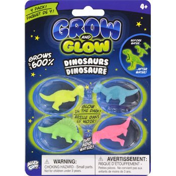 Prehistoric Toys Grow and Glow Dinosaurs, 4-ct. Packs