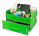 Soyoo DIY Multifunction Office Cosmetics Desk Organizer Box Drawer Green