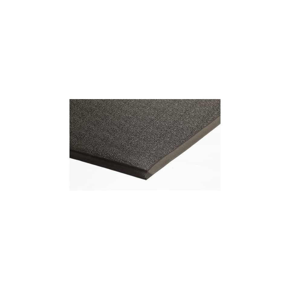 Andersen 911 Charcoal PVC Foam Sure Cushion Heavy Duty Anti Fatigue Mat, 3 Length x 2 Width x 1/2 Thick, For Dry Area