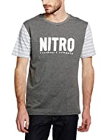NITRO SNOWBOARDS Camiseta Manga Corta Hanson (Gris Oscuro)