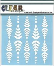 Clear Scraps CSSM6-FERN Translucent Plastic Film Stencil Fern Leaf 6-Inch x 6-Inch