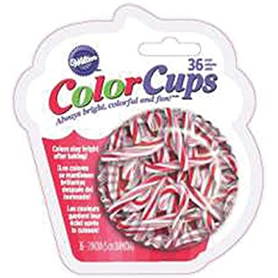 Wilton Candy Cane Pattern Baking Cups, 36-Count