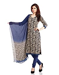 Pinkshink Womens Cotton Unstitched Salwar Suit Dress Material (Psk18 _Beige _Free Size)